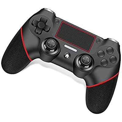 Wireless Controller for Playstation 4 /Pro/Slim/PC RegeMoudal PS4 Controller Built-in Double Motor Vibration and Audio Function with Touchpad and Anti-Slip Grip