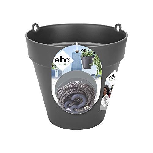 Elho Loft Urban Hängeampel 20 - Blumentopf - Anthrazit - Draußen & Balkon - Ø 19.6 x H 18.7 cm