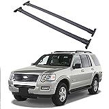KNHG Aleación de Aluminio Barra de Techo para Coches Compatible con Ford Explorer 2009-2015 Bacas para vehículos Personalizado Baca Portaequipajes 2 Barras aguanta hasta 75KG