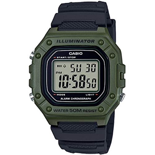 CASIO Digital Quartz W-218H-3AVEF