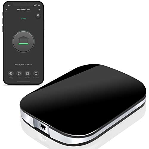 Smart Wi-Fi Garage Door Opener Wireless Garage Door Remote, Open and Close Garage Door from Anywhere, Compatible with Amazon Alexa, Google Assistant