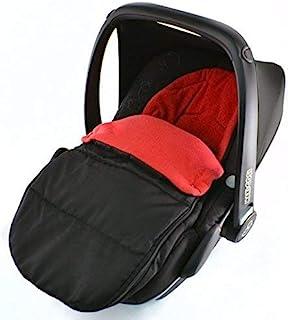 Universal Fußsack für Babyschale Maxi Cosi Pepple Fire Rot