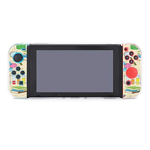 with Molecule And Microscope Pattern Nintendo Switch Soft Game Console Protective Cover, Stylish Handle Design, Suitable For Switch Lite Console