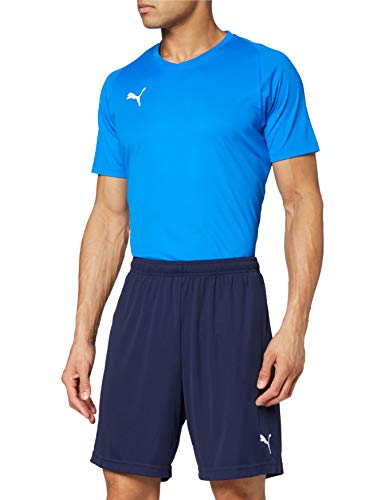 Puma Liga Training Shorts Core, Pantaloncini Uomo, Blu (Peacoat White), M