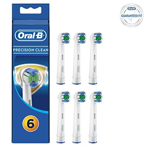 Braun Oral-B 4210201207436 Oral-B Precision Clean - Testine di ricambio con protezione batterica, 6 pezzi