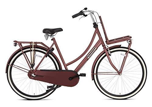 Fahrrad Popal Daily Dutch Basic+ 28 Zoll 57 cm Damen 3G Rücktrittbremse Rot