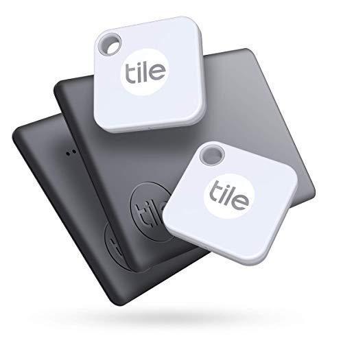 Tile Mate + Slim (2020) Conjunto, buscador de objetos Bluetooth, pack de 4 (2 Mate, 2 Slim). Compatible con Alexa y Google Smart Home, iOS y Android. Busca llaves, carteras, mandos a distancia y más