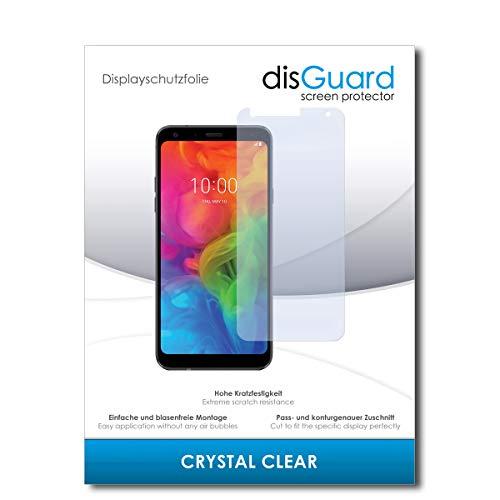 disGuard® Bildschirmschutzfolie [Crystal Clear] kompatibel mit LG Q7 Alfa [2 Stück] Kristallklar, Transparent, Unsichtbar, Extrem Kratzfest, Anti-Fingerabdruck - Panzerglas Folie, Schutzfolie