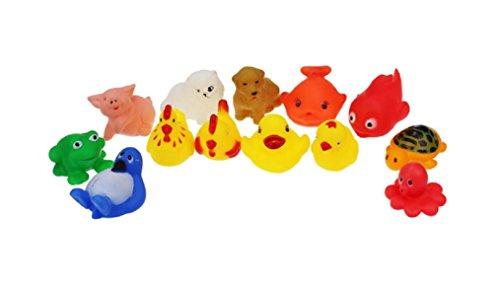 Ularma 13 Gummi Tiere Bad Baby Dusche Party Gefälligkeiten Spielzeug Viele Verschieden Tiere