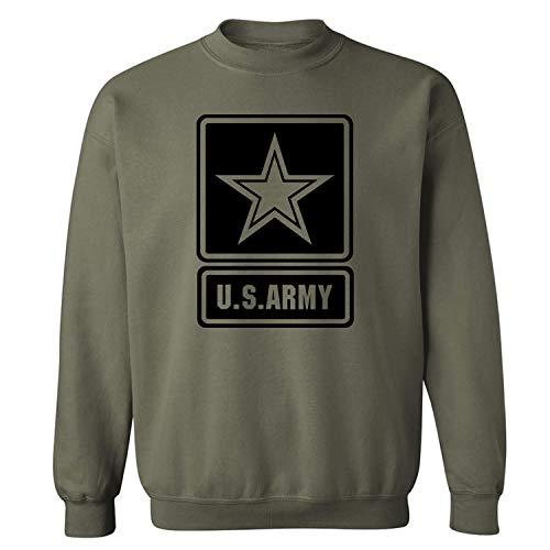 US Army Star Modern Logo Crewneck Sweatshirt in Military Green - Small