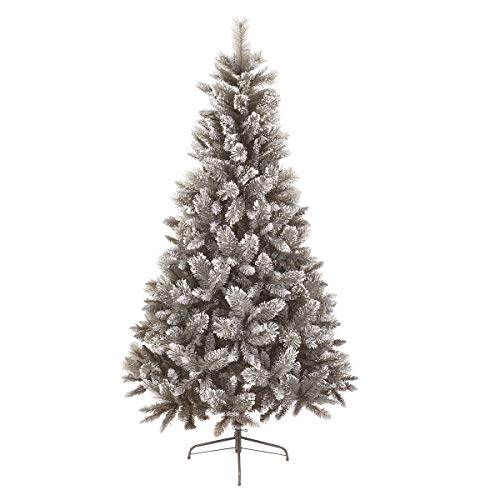 2.1m Snow Tipped Fir Grey Artificial Christmas Tree with Cashmere Tips