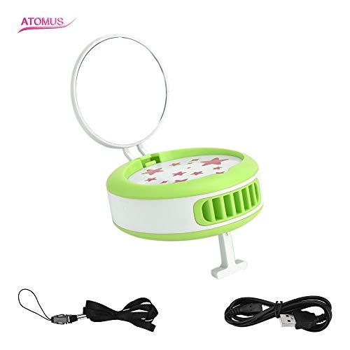 Séchoir à Cils, Ventilateur USB, Anself Ventilateur pour Extension de Cils et séchoir Manuel pour manucure, Extension pour Faux Cils, Extension avec Miroir de Maquillage