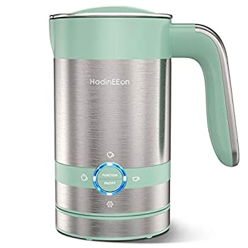 HadinEEon 4 in 1 Magnetic Milk Frother Non-Stick Interior Electric Milk Steamer & Frother 3.4oz/6.8oz Automatic Foam Maker Hot/Cold Milk Frother and Warmer for Latte Cappuccino Hot Chocolates