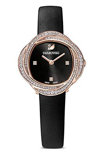 Swarovski 32014286 Women's Analogue Quartz Watch One Size Black Leather