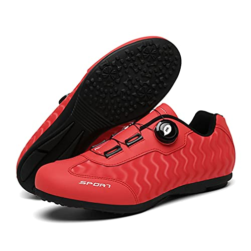WOLFWAY Non Cleats Cycling Shoes for Men Women, Unlocked Spinning Shoes Rode Cycling MTB Bicycle Shoes