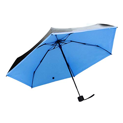 Honestyivan Mini Compact Foldable Sun&Rain Umbrella Windproof UV Protection Ultra Lightweight Tri-Fold Umbrella Pocket Umbrella Travel Umbrella
