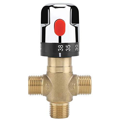 Válvula de mezcla termostática de latón Tubería de agua Temperatura del agua...