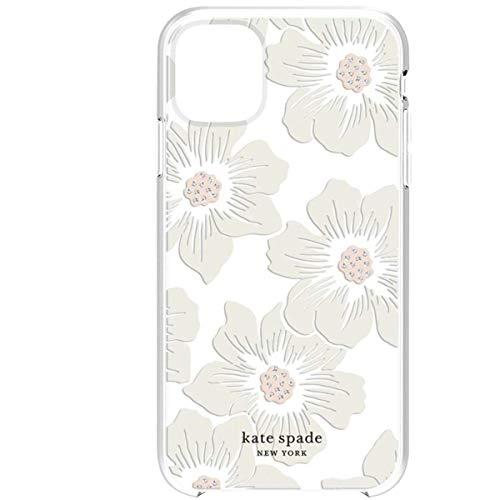 Kate spade (ケイトスペード) iPhone 11 スマートフォンケース クリア おしゃれ かわいい ホリーホック フローラルクリア スマホケース [並行輸入品]