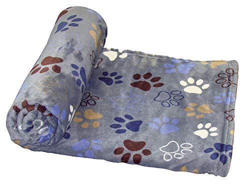 """NOBBY 60883 - Coperta per cani Classic \""""Lissi\"""", 100 x 150 cm, colore: Grigio scuro"""