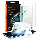 Spigen, Glas.TR Platinum, UV Protector de Pantalla para Samsung Galaxy Note 10 Plus, Compatible con Sensor de Huella Digital, Compatible con Las Fundas, 3D Cobertuna Completa, Anti-Scratch