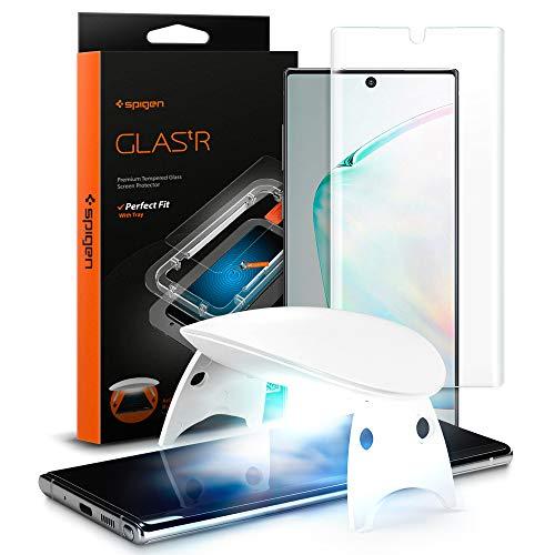 Spigen, Vetro Temperato Samsung Galaxy Note 10 Plus, Glas.tR Platinum, Copertura Totale, Custodia Compatibile, Durezza 9H, Alta Reattività, Pellicola Samsung...
