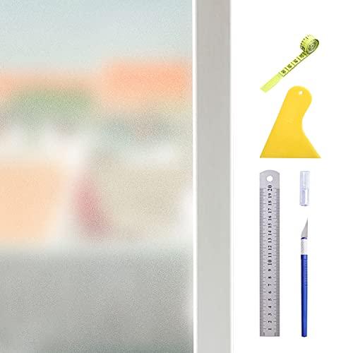 Hive secrets:Película para Ventanas esmerilada electrostática, Equipada con Herramientas, regadera Plegable de 530 ml, Cuchillo Manual, Regla de Acero, raspador, Cinta métrica (60X200 cm)