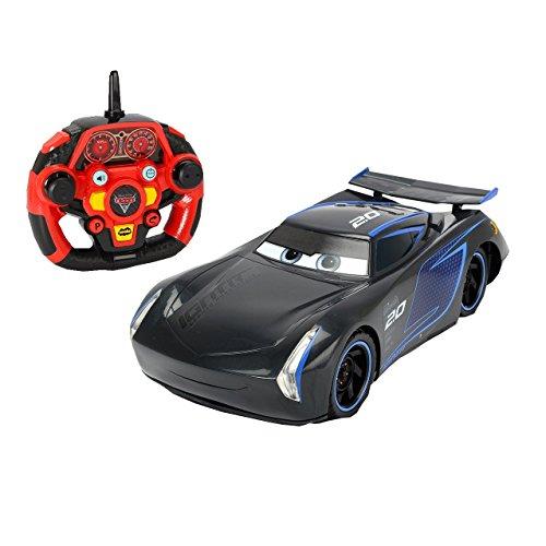 Dickie Toys 203086007 Toys RC Cars 3 Ultimate Feature Jackson Storm, Spielzeugauto mit 3-Kanal Funkfernsteuerung (2,4 GHz), RC Auto, Startsimulation, Parkfunktion, Turbofunktion, 26 cm