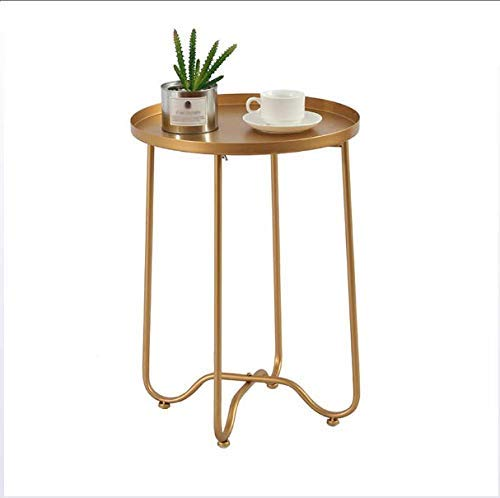 ZGQA-GQA Metal Round Side End Table, Side Table Tray Metal End Table Round Foldable Accent Coffee Table, for Outdoor Or Indoor Use Nightstand/Sofa Tables