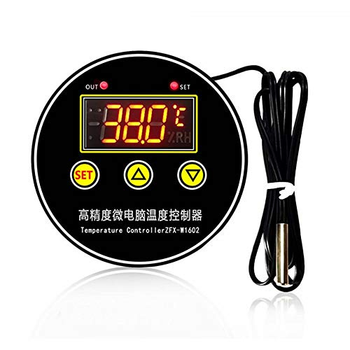 MING-MCZ Duradero Interruptor de termostato Ajustable con Pantalla Digital Controlador de Temperatura Inteligente Incubadora de Alta precisión ZFX-W1602 Fácil de Montar (Color : 12V)