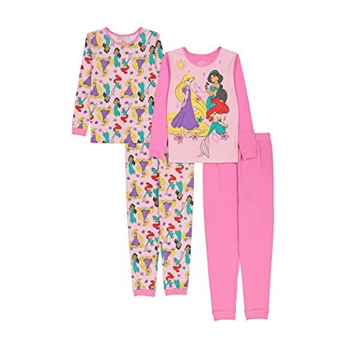 Disney Girls Snug Fit Cotton Pajamas, Princess Beauties, 6