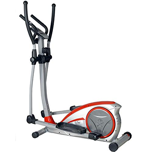 Magnetic Elliptical Cross Trainer Family Gym Workout With The Elliptical Training Machine For Small Liquid Crystal Display Room Apartment Suitable for Exercise ( Color : Silver , Size : 120x67x154cm )