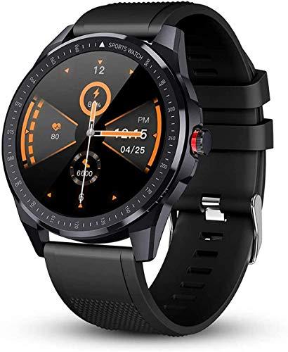 hwbq Reloj inteligente para hombres Rastreador de sueño Reloj inteligente con pantalla táctil completa rastreador de actividad IP68 impermeable