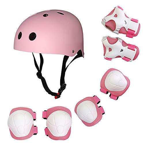 Lixada Casco Infantil Ajustable 7 en 1Protecciones Patines Rodilleras Coderas para Patinaje Ciclismo Monopatín y Deportes Extremos