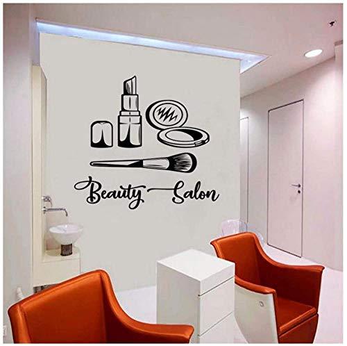 Maquillage artiste logo sticker mural maquillage salon de beauté mode style image cosmétique beauté vinyle autocollant 62X57Cm