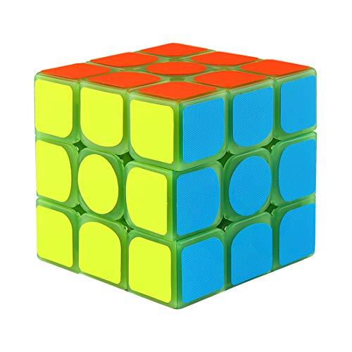 Larcele Luminoso Verde Puzzles 3D Magico Cubo 3X3X3 MF-08