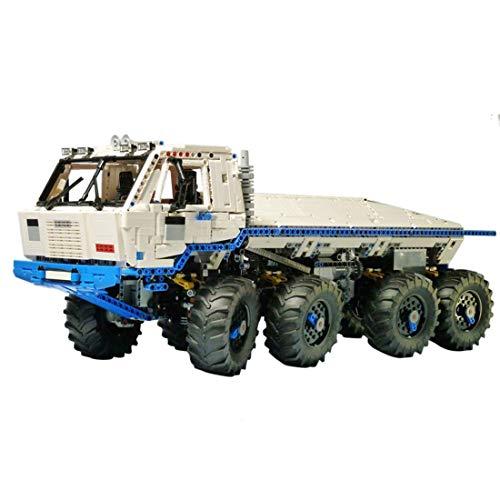 LSOGO Tatra T813 Off-Roader Modell, 3599 Teile mit Motor und Fernbedienung Technik Custom Bauspiel Geländewagen Bauset 8x8 LKW Kompatibel mit Großen Marken