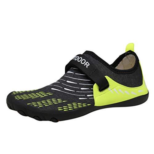 Clearance Sale [EU36-EU49] ODRD Schuhe Herren Männer Flache Wasserschuhe des Sommer-beiläufigen Männer Pool-Strand-Schwimmen-Slip-On Creek-Tauchschuhe Combat Laufschuhe Wanderschuhe Sneakers Sport