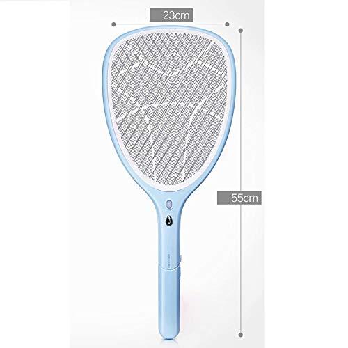 La chauve-souris des insectes buzz tue les insectes (moustiques et moucherons) lors d'un contact approprié pour une utilisation en intérieur et en extérieur Utilisation pour les barbecues (Bleu)