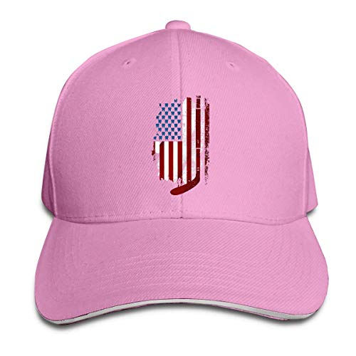 485 Baseball Cap,Hockeyschläger Zähne Amerikanische Flagge,Classic Bb Baseball Cap Verstellbar Laufen Cap Geschenk Papa Hüte Klassische Trucker Kappe Atmungsaktiv Basecap Für Herren Damen