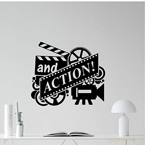 Action Movie Wandtattoo Filmrolle Kino Heimkino Vinyl Aufkleber Dekor Abnehmbare Kunst Wandbild für Schlafzimmer Home Decoraiton 42x48cm