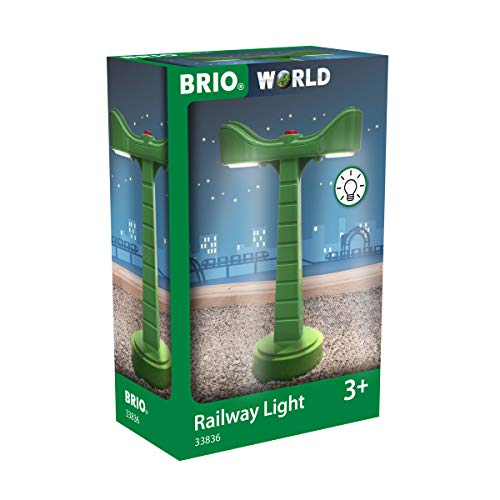 BRIO World 33836 LED-Schienenbeleuchtung - Zubehör für die BRIO Holzeisenbahn - Empfohlen ab 3 Jahren