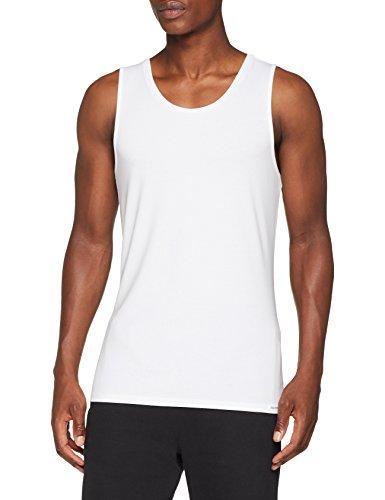 Palmers Herren Smart Shirt Tank ärmellos Unterhemd, Weiß (Weiss 100), Large