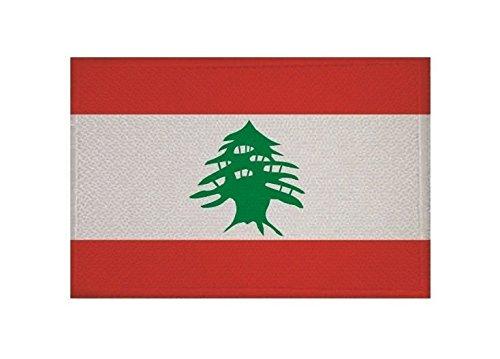 U24 Aufnäher Libanon Fahne Flagge Aufbügler Patch 9 x 6 cm
