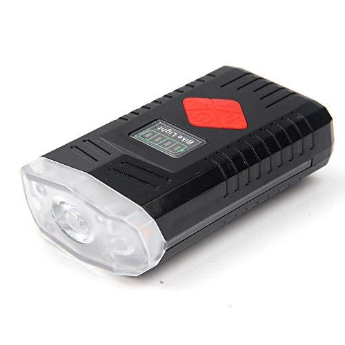 ZYDSB Selbstfahrende Scheinwerfer USB Aufladung Mountainbike Scheinwerfer + Hupe mit Seitenlichtern Fahrradbeleuchtung Fahrradfahren Ausrüstung, rot, rechargeable