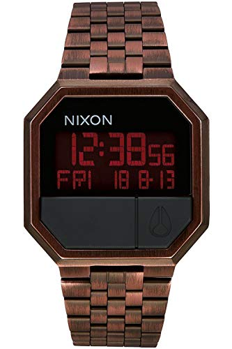 Nixon re-Run Herren Uhr digital Quarzwerk mit Edelstahl Armband A158894