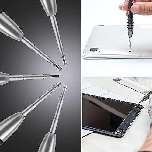 Screwdriver Set for Macbook E·Durable 10Pcs Phillips Pentalobe 5 T5 T6 Repair Tool Kit Fits for Macbook Pro/Air/Retina