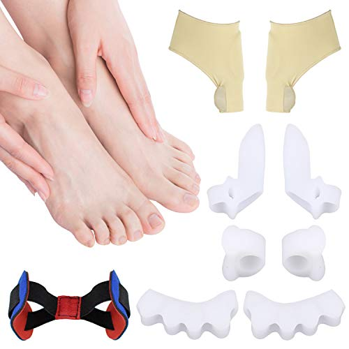 BFHCVDF Gel Toe Separators Bunion Corrector for Overlapping Toe Fabric Toe Spacers