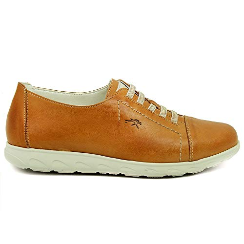 Fluchos   Zapato de Mujer   NUI F0854 Samun Camel Com.1   Zapato de Piel   Cierre con Elásticos   Piso de Goma