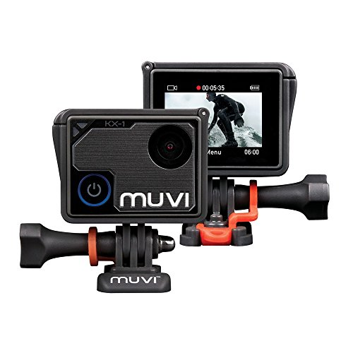 Veho Muvi KX-1 Action Camera | KX-Series | Handsfree Camcorder | WiFi | 4k Action Cam | 12MP Photo | Waterproof Housing (VCC-008-KX1)