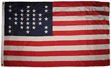 Moon 3x5 USA Ft Fort Sumter Flag Union Civil War 33 Star American Flag 3x5 Banner - Vivid Color and UV Fade Resistant - Prime Outside Garden Home Decor